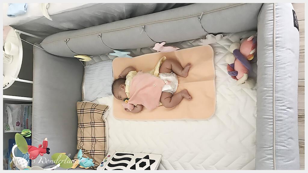 gunite落地式陪睡嬰兒床