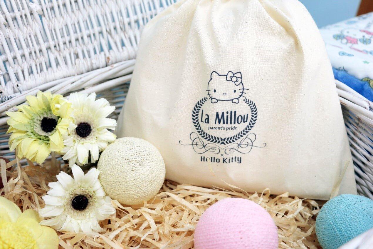 Hello Kitty聯名logo麻布袋