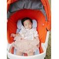 【芊芊媽】air cossi 超透氣抗菌天絲坐墊 寶寶的外出嬰兒床!
