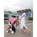 【美花媽】荷蘭GREENTOM 最時尚環保的粉紅色嬰兒推車