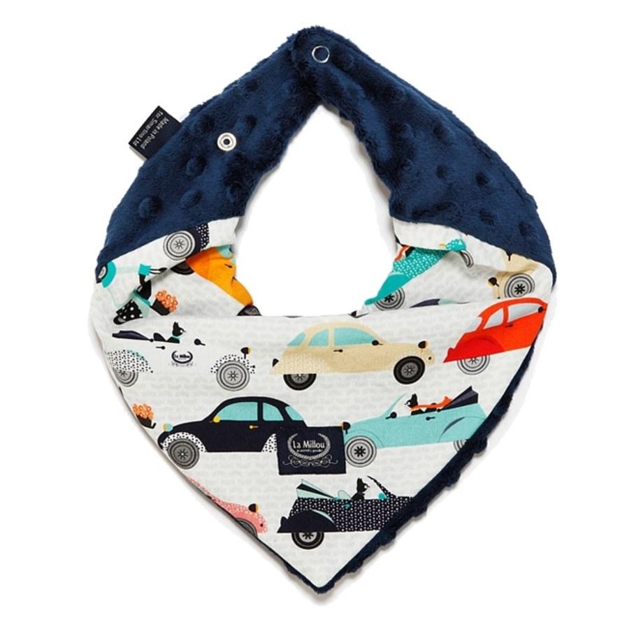 La Millou 豆豆圍兜領巾(法鬥噗噗車-勇氣海軍藍)