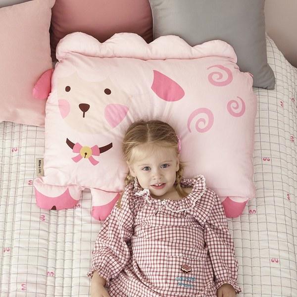 Milo & Gabby 動物好朋友-超細纖維防蟎大枕心+枕套組(MELISSA綿羊)