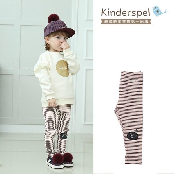 Kinderspel內搭褲(條紋紅)