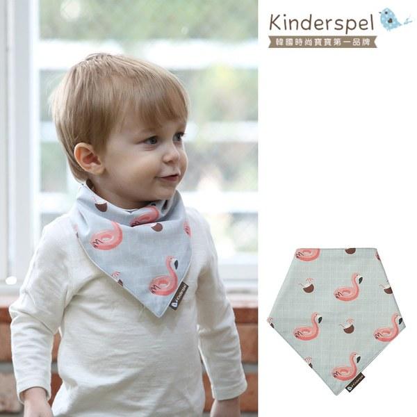 Kinderspel 繽紛時尚‧有機棉圍兜領巾 (熱帶紅鶴)