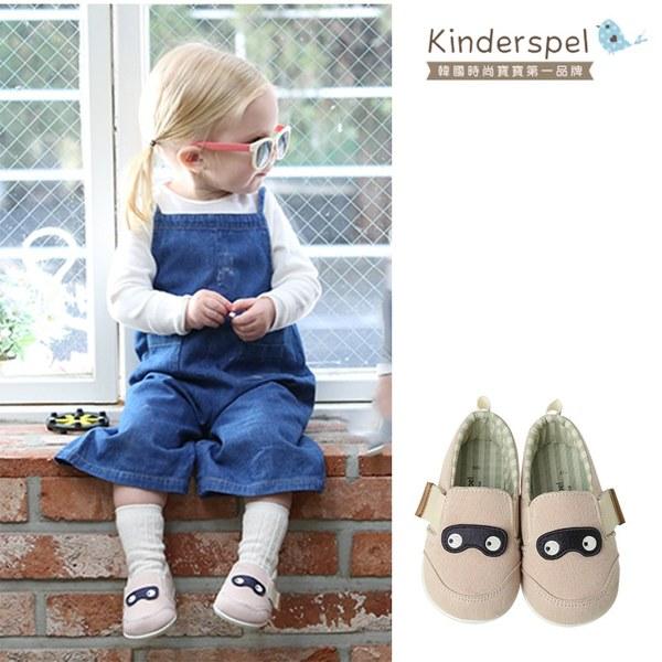 Kinderspel 輕柔細緻.郊遊趣休閒學步鞋(寶寶特攻隊_粉紅)