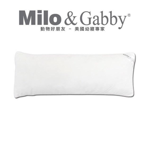 Milo & Gabby 動物好朋友-超細纖維防蟎抗菌銀離子長條抱枕-枕心