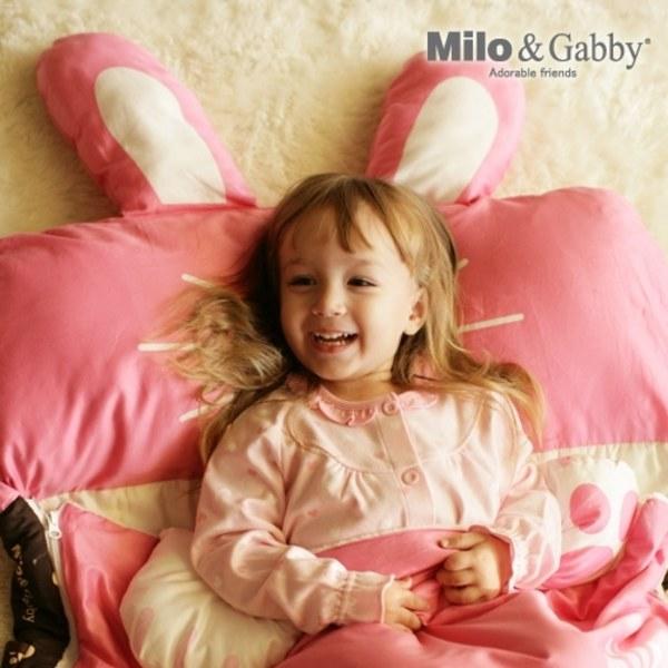 【預購品11/18起出貨】Milo & Gabby 動物好朋友-三合一超柔軟四季睡袋 (LOLA兔兔)