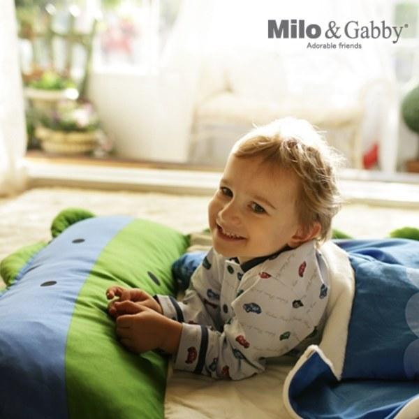 【預購品11/18起出貨】Milo & Gabby 動物好朋友-三合一超柔軟四季睡袋 (DYLAN恐龍)