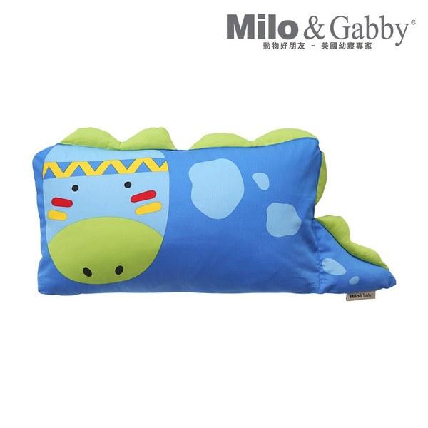 Milo & Gabby 動物好朋友-mini枕頭套(DYLAN印第安恐龍)