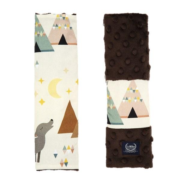 La Millou 安全帶保護套-野牛歷險記(可可巧克力)