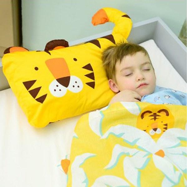 Milo & Gabby 動物好朋友-超細纖維防蹣抗菌mini枕心+枕套組(TOM小虎)