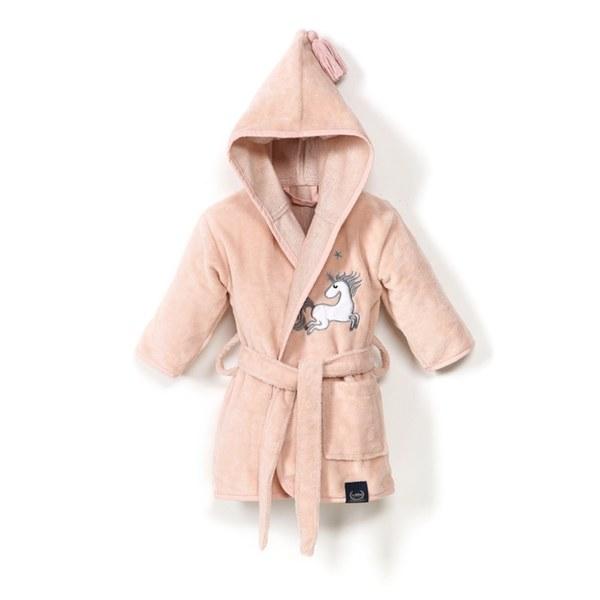 La Millou 時尚篷篷睡袍浴袍_標準6M-2.5Y- 公主獨角獸(夢幻珊瑚粉)