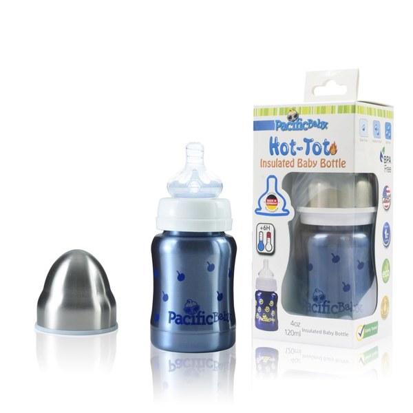 Pacific Baby 美國不鏽鋼保溫太空瓶4oz (親切藍)