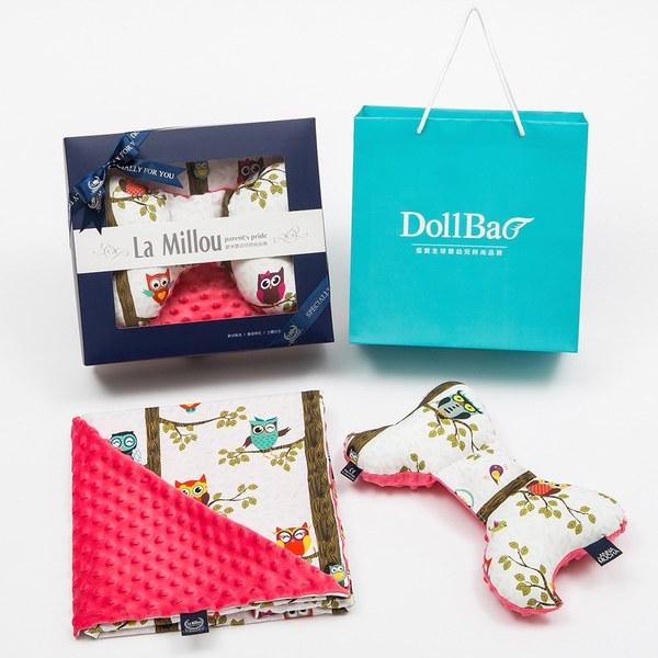 【彌月禮盒】La Millou 天使枕+單面巧柔豆豆毯-加大款(多款可選)