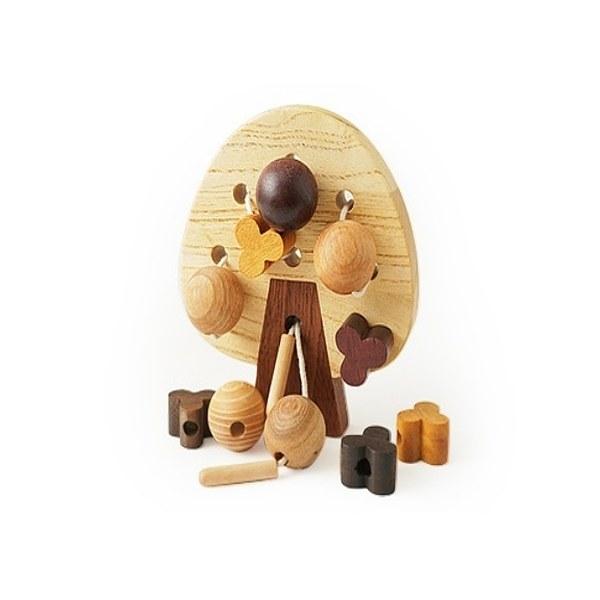 Soopsori全腦開發‧原粹木積木(穿線蘋果樹)