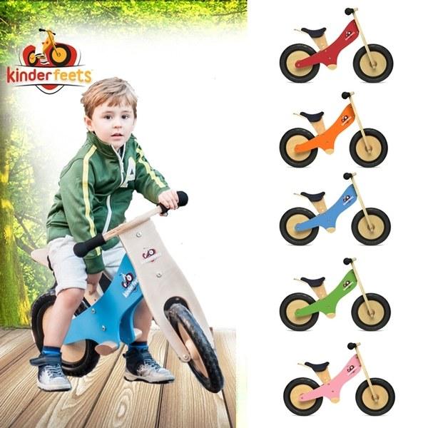Kinderfeets 美國木製平衡滑步車/教具車-彩繪旗艦系列(六色任選)