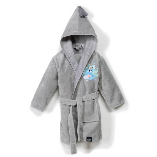 La Millou 時尚篷篷睡袍浴袍_加大2.5-5Y- 瑜珈珈樹懶(銀河星空灰)
