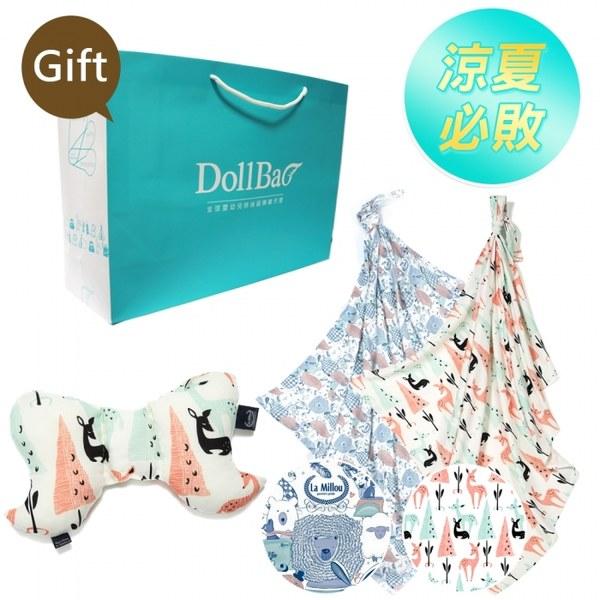 La Millou澎湃套組(天使枕-竹纖機能款+竹纖涼感巾*2)-贈送禮提袋