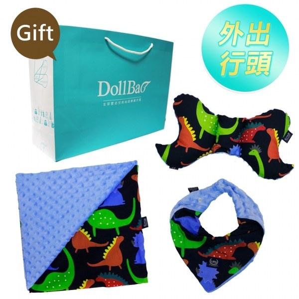 La Millou澎湃套組(天使枕+巧柔豆豆毯-標準款+豆豆圍兜領巾)-贈送禮提袋