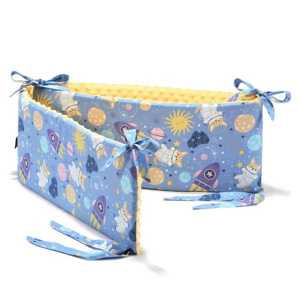 La Millou 拉米洛100%純棉床圍護欄-星空胖柯基(藍底)-清恬芒果黃