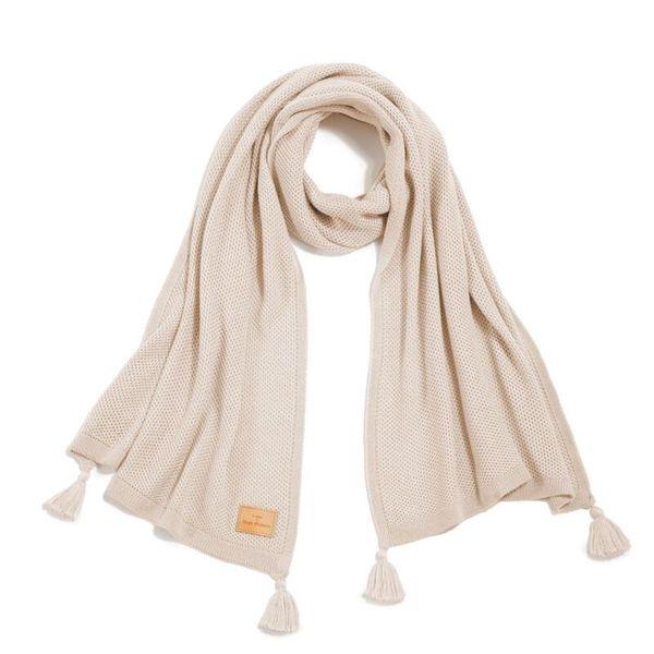 La Millou竹纖圍巾時尚流蘇款40x130cm-胡桃鉗組曲(世界交響樂聯名)