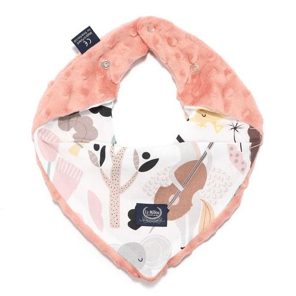 La Millou 豆豆領巾/圍兜-動物交響樂-果漾蜜桃粉