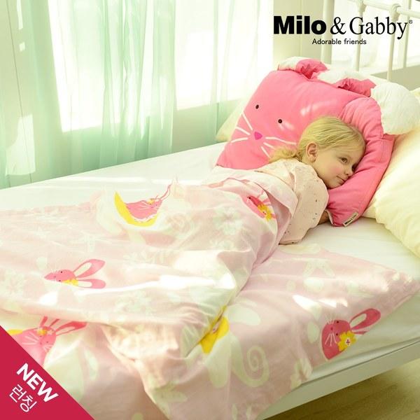 Milo&&Gabby 動物好朋友-超透涼LINEN空氣毯-盛夏海洋限量版(Lola兔兔)