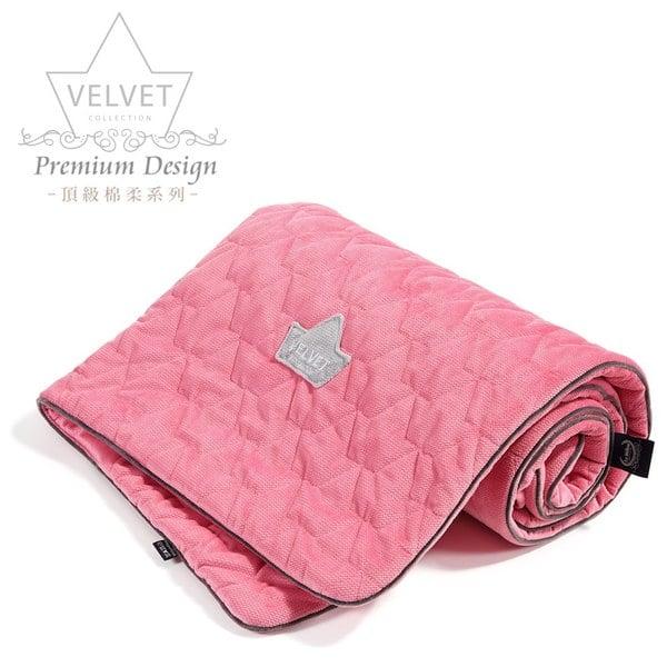 La Millou Velvet頂級棉柔系列-標準款柔柔毯80x100cm(舒柔亮桃)