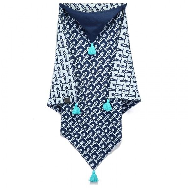 La Millou 針織篷篷衣-北極熊天天(勇氣海軍藍)