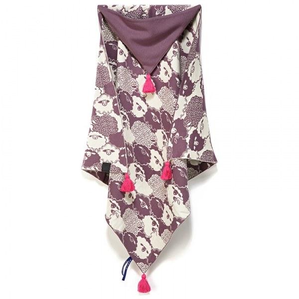 La Millou 針織篷篷衣-朵朵綿羊糖(沁甜莓果紅)