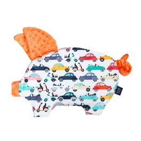 La Millou 豆豆小豬枕-法鬥噗噗車(葡萄柚橙橘)