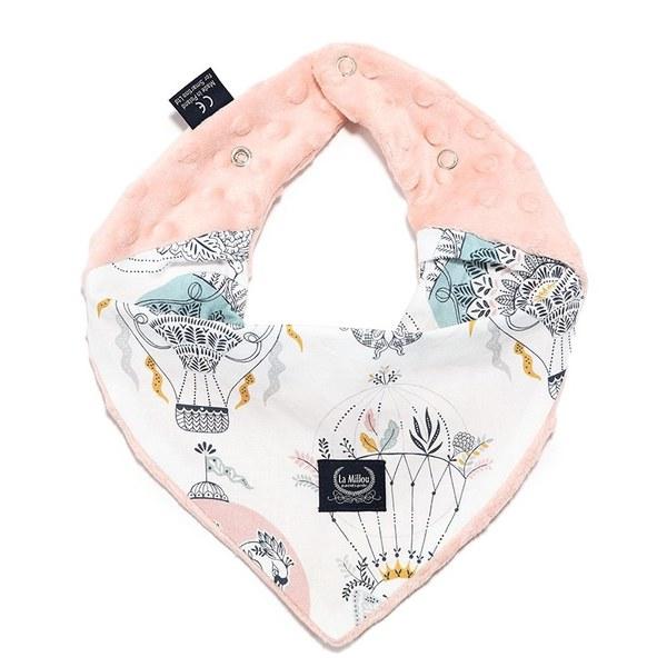 La Millou豆豆領巾/圍兜-夢想熱氣球-粉嫩氣質膚