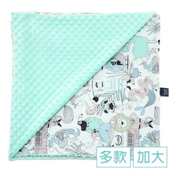 La Millou 單面巧柔豆豆毯(加大款)-La Millou動物園-粉橘小太陽