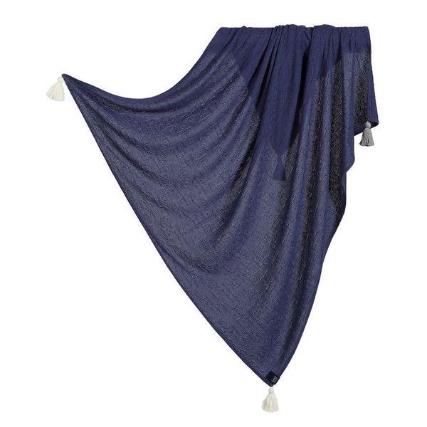 La Millou竹纖針織毯_純色款(勇氣海軍藍)